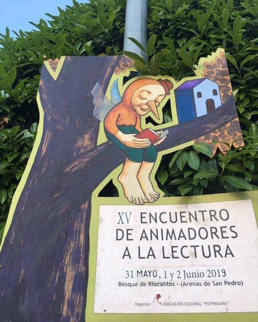 Cartel del XV Encuentro de Animadores a la Lectura en el Bosque de Riocantos